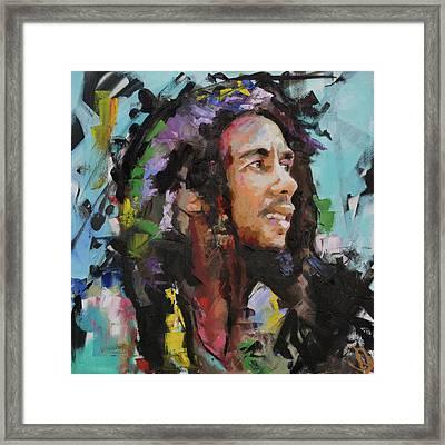 Bob Marley Portrait Framed Print by Richard Day