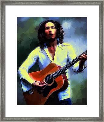 Bob Marley Framed Print by Scott Wallace
