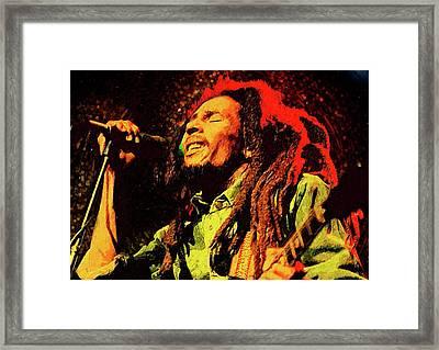 Bob Marley Framed Print by Semih Yurdabak
