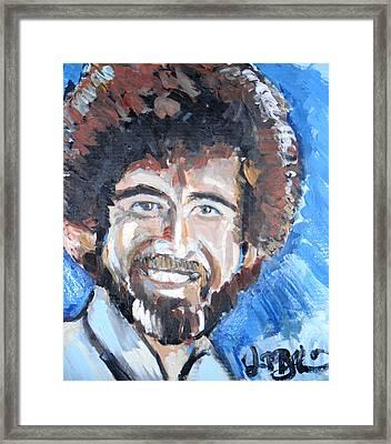 Bob Ross  Framed Print by Jon Baldwin  Art