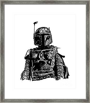 Boba Fett From The Star Wars Universe Framed Print by Edward Fielding