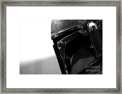 Boba Fett Helmet Framed Print by Micah May