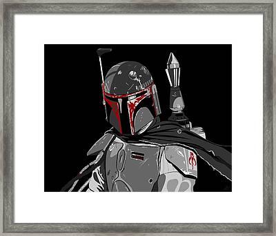 Boba Fett Star Wars Pop Art Framed Print by Paul Dunkel