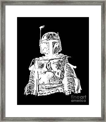 Boba Fett Tee Framed Print by Edward Fielding