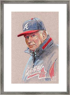 Bobby Cox Framed Print by Donald Maier