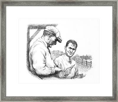 Bobby Jones At British Open Framed Print by Harry West
