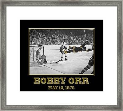Bobby Orr 6 Framed Print by Andrew Fare