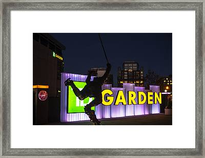 Bobby Orr Statue Td Garden Boston Ma Framed Print by Toby McGuire