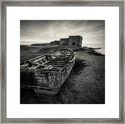 Boddin Point Wreck Framed Print by Dave Bowman