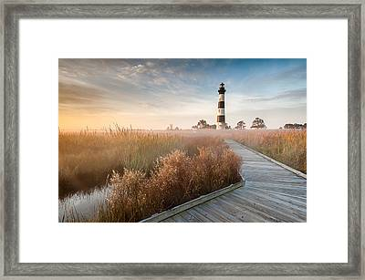 Bodie Island Lighthouse Cape Hatteras National Seashore North Carolina Framed Print by Mark VanDyke