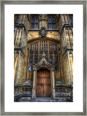 Bodleian Library Door - Oxford Framed Print by Yhun Suarez