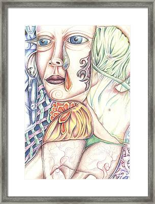 Body Image And Aging Framed Print by Karen Musick