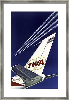 Boeing 707 Trans World Airlines C. 1960 Framed Print by Daniel Hagerman