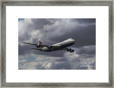 Boeing 747-87uf Framed Print by Nigel Bangert