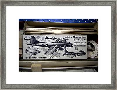 Boeing B 17 Flying Fortresses Build Kit Framed Print by Thomas Woolworth