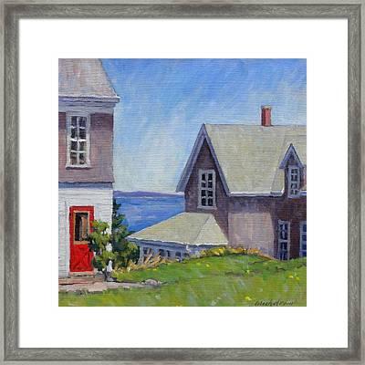 Bogdanov House Monhegan Framed Print by Thor Wickstrom