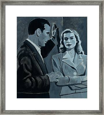 Bogie And Bacall Framed Print by Frank Strasser