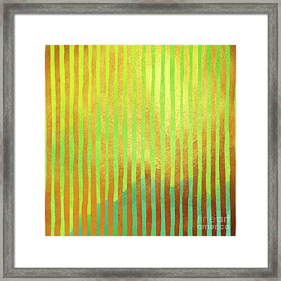 Bohemian Gold II Stripes Abstract Art Framed Print by Tina Lavoie