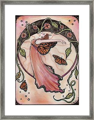 Bohemian Nouveau Fairy Framed Print by Renee Lavoie