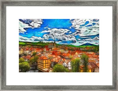 Bohemian Village 2 Framed Print by Jean-Marc Lacombe
