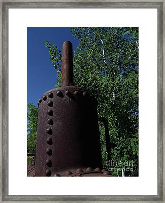 Boiler Head Framed Print by The Stone Age