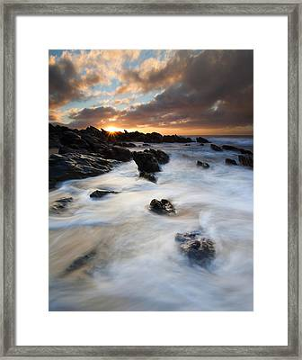 Boiling Tides Framed Print by Mike  Dawson