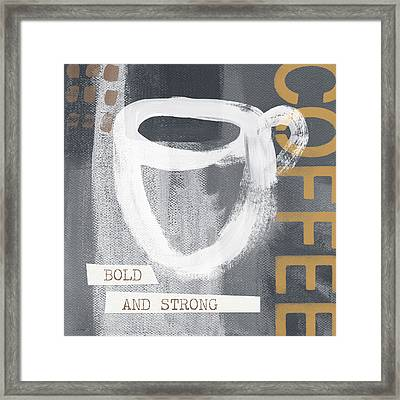 Bold And Strong- Art By Linda Woods Framed Print by Linda Woods