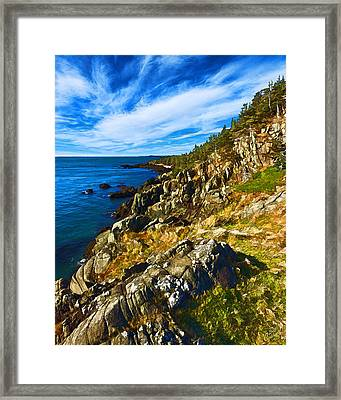 Bold Coast 3 Framed Print by Bill Caldwell -        ABeautifulSky Photography