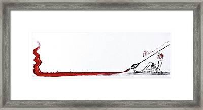 Bold Stroke Framed Print by Barbara Chase