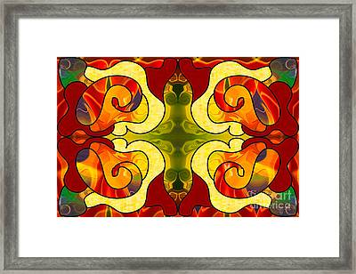 Boldly Experiencing Consciousness Abstract Art By Omashte Framed Print by Omaste Witkowski