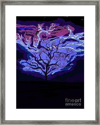 Bolts Of The Sky  Framed Print by Ishy Christine Degyansky