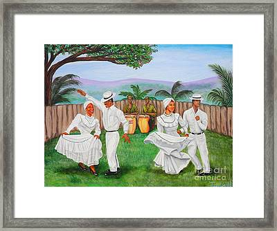 Bomba Dance Framed Print by Juan Gonzalez