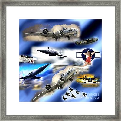 Bombers Framed Print by John Rizzuto
