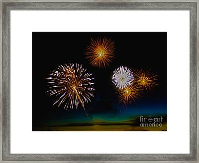 Bombs Bursting In The Air Framed Print by Robert Bales