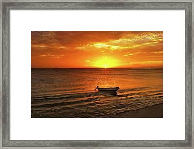 Bonaire Sunset 4 Framed Print by Stephen Anderson