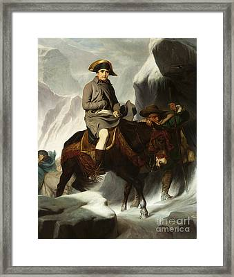 Bonaparte Crossing The Alps Framed Print by MotionAge Designs