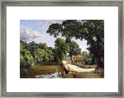 Bonchurch Isle Of Wight Framed Print by Jasper Francis Cropsey