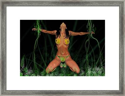 Bondage In Eden Framed Print by Tbone Oliver