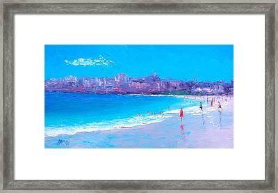 Bondi Beach Day Framed Print by Jan Matson