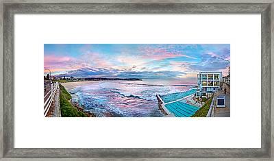 Bondi Beach Icebergs Framed Print by Az Jackson