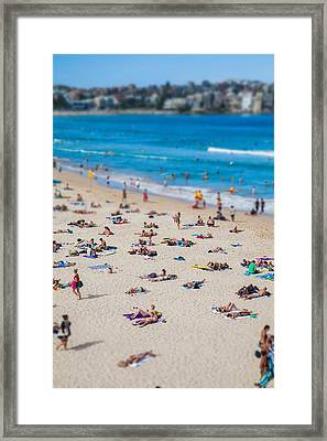 Bondi People Framed Print by Az Jackson