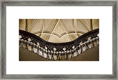 Bone Balcony Framed Print by Heather Applegate