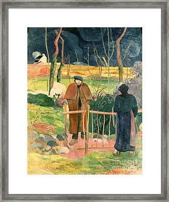 Bonjour Monsieur Gauguin Framed Print by Paul Gauguin
