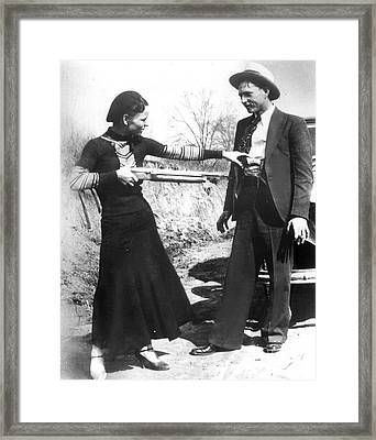 Bonnie And Clyde, 1933 Framed Print by Granger