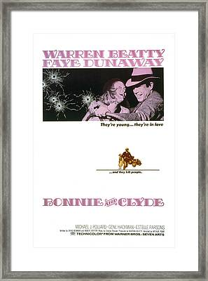 Bonnie And Clyde,  Warren Beatty Framed Print by Everett