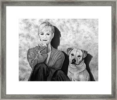 Bonnie Hunt And Charlie Framed Print by Peter Piatt