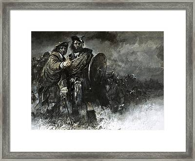 Bonnie Prince Charlie At Culloden Framed Print by Neville Dear