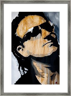 Bono Framed Print by Brad Jensen