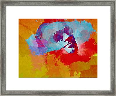 Bono U2 Framed Print by Naxart Studio
