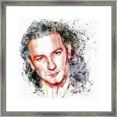 Bono Vox Framed Print by Marian Voicu